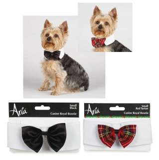 ROYALE BOW TIE Dog Collar Black Bowtie for Formal Wedding Tuxedo