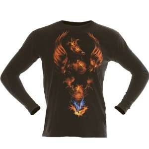 Extreme Pain Born of Fire Black Thermal T Shirt (Size2XL)