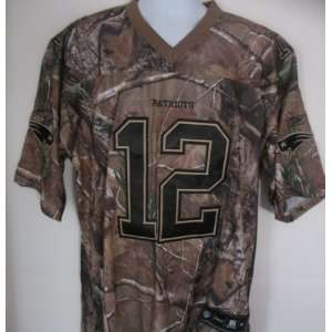 Tom Brady: #12 New England Patriots Real Tree Camoflauge
