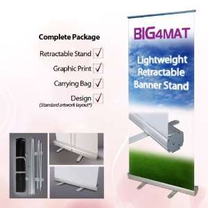 48 Lightweight Retractable Banner Stand with Print & Standard