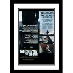 No Country For Old Men 32x45 Framed and Double Matted Movie Poster   E