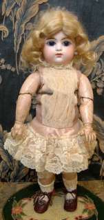 Enchanting 16 Francois Gaultier closed mouth BEBE ANTIQUE FRENCH DOLL