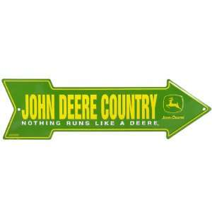 John Deere Country Arrow Metal Sign: Home & Kitchen