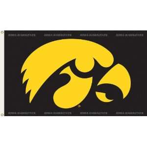 NCAA Iowa Hawkeyes 3 by 5 Foot Flag Hawk Logo with
