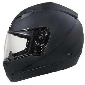 HAWK Matte Black Dual Visor Motorcycle Helmet Sz L Sports