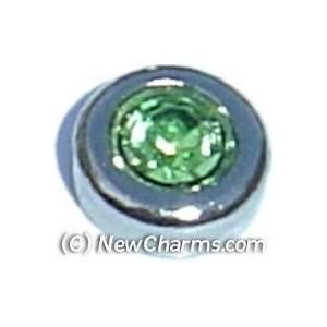 Round Birthstone August Floating Locket Charm Jewelry