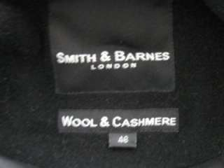SMITH & BARNES LONDON CASHMERE WOOL TALL MANS BLACK OVER COAT JACKET