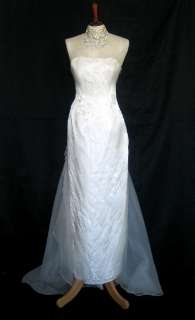 NWT Jessica McClintock Ivory Organza Wings Gown Size 2