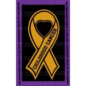 Childhood Cancer Ribbon Decal 8 X 14 Everything Else