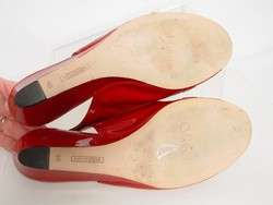 Womens COLE HAAN NIKE AIR Red Patent Leather Slingback Wedge Sandal