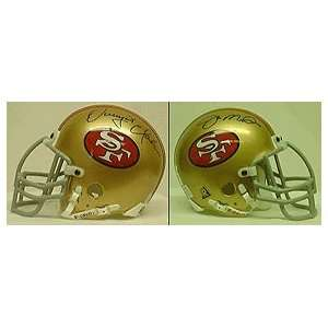 Joe Montana and Dwight Clark, San Francisco 49ers Old Logo Autographed