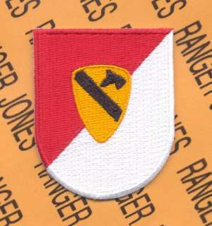 Cavalry Division Air Airborne w/ dui crest beret flash patch