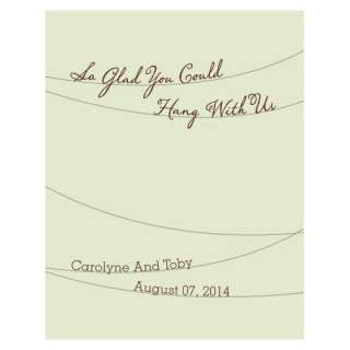 Customized / Personalized Wedding Favor Gift Cards with Seed Paper