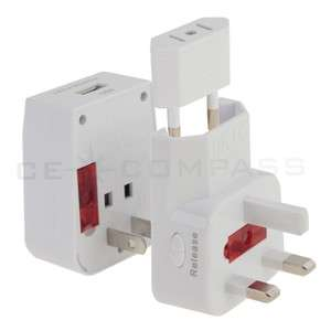 USB UNIVERSAL TRAVEL AC POWER ADAPTER PLUG AU/UK/US/EU