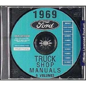 Ford Truck Repair Shop Manual CD for Pickup Bronco Van and Big trucks