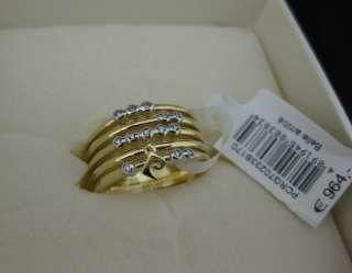 Pierre Cardin Damen RING Gold 750 Diamanten  60%RABATT