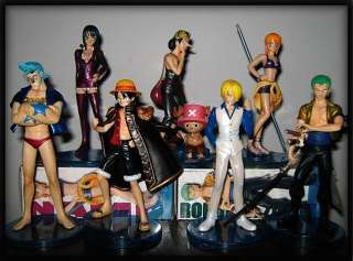 One Piece Manga Anime Figuren Set 8 Stück ca,6~14CM 007