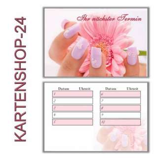 50 Terminkarten Nagelstudio 5 Nail Design + Spender