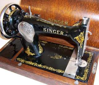 1931 Singer model 128 Hand Crank Sewing Machine Rococo