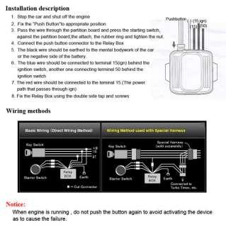 12V Universal Car Push Start Button Ignition Engine Start Starter