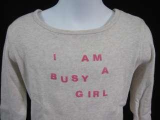BONPOINT Beige Cotton Kids Girls Long Sleeve Shirt Sz 6