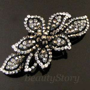 ADDL Item  1 pc rhinestone crystal flower hair barrette