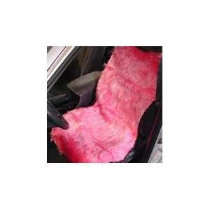 Pink Shag Seat Cover Automotive
