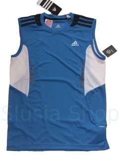 NEU ADIDAS ClimaCool Sport Muskel T Shirt Tank Top blau