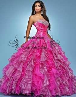 Sweetheart Quinceanera Ball Gown Wedding Dress Prom Evening Dress