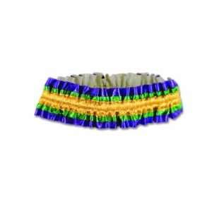 Beistle 60143 GGP   Mardi Gras Arm Bands   Gold Green Purple  Pack of