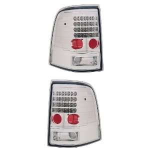 EXPLORER / MOUNTAINEER 02 04 LED TAIL LIGHT ALL CHROME NEW Automotive