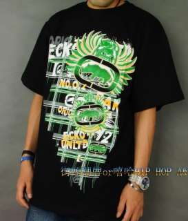 Ecko Unltd Tee 5 Print HipHop T Shirt Sz XL to 3XL BLK