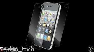 ZAGG invisibleSHIELD Apple iPhone Full Body 4G 4S Case w/ TPU Bumper
