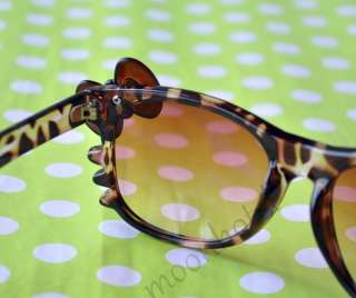 Hello Kitty Brown Sunglasses Bow Costume Style UV400 Protection With