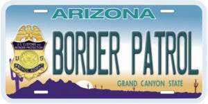 Arizona Border Patrol Novelty Car Auto License Plate