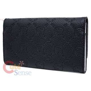 Hello Kitty Black Embossed Faux Leather Wallet by Loungefly