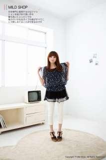 Summer Womens Girls Japanese Korean Fashion Style Star Layer Chiffon