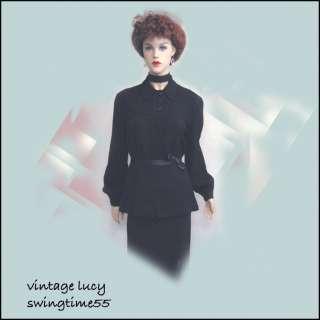 VINTAGE 40s FAB MOVIE STAR ROCKABILLY SWING DRESS COAT