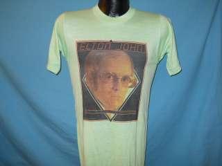 vtg 70s ELTON JOHN LOUDER THAN CONCORDE TOUR t shirt S