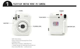 FUJIFILM INSTAX MINI 25 CAMERA+PENx10+FILM40+CLASSIC BAG+ALBUM+DECO