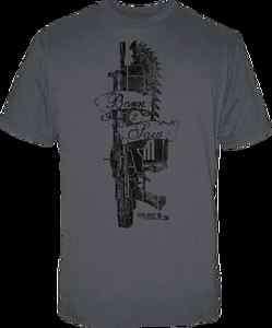 Gears of War 3   Born 2 Saw Grey Male T Shirt