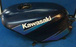 Ninja 500 Gas Tank Black with Blue Stripe Fuel Petrol Petro Gaz