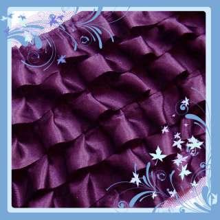 C823 8 D Purple Ruffle Lace Edge Satin dress Trim By Y