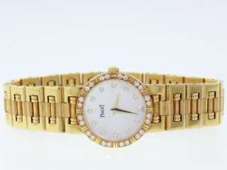 K81 Quartz Solid 18K Yellow Gold Diamond Women Watch W/Box