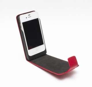 NEW FERRARI OFFICALLY LICENSED IPHONE4 Genuine Leather Foldable FLIP
