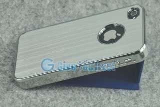 Luxury Steel Aluminum Chrome Hard Case Cover For iPhone 4 4S 4G