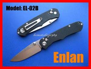 New ENLAN EL 02B Axis Lock Steel Folding Blade 88mm Knife