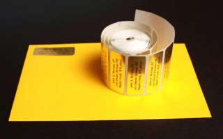 150 Personalized Gold Foil address labels on a roll