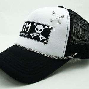 Punk Rock Emo Goth Trucker Biker BTM Mesh Cap Hat