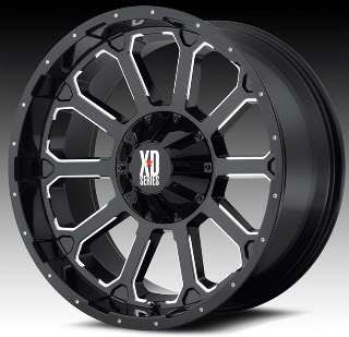 xd series 806 bomb 22 x 12 gloss black machined rims